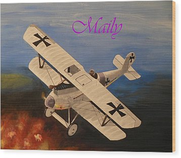Wwi Aplane Wood Print by Maily