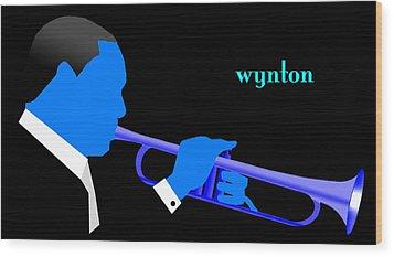 Wynton Marsalis Blue Wood Print