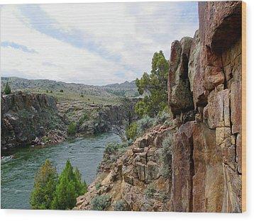 Wyoming River Wood Print by Wayne Toutaint