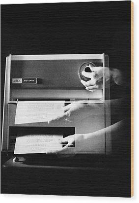 Xerox 813, The First Desktop Wood Print by Everett