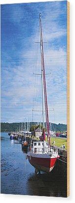 Yacht  Wood Print by Svetlana Sewell