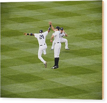 Yankee High Five Wood Print by Christopher McPhail