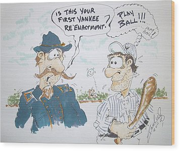 Yankee Mistake Wood Print by Paul Chestnutt