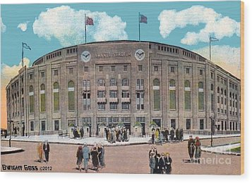 Yankee Stadium C.1930 Wood Print by Dwight Goss