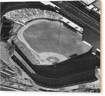 Yankee Stadium On Labor Day. 20,000 Wood Print by Everett