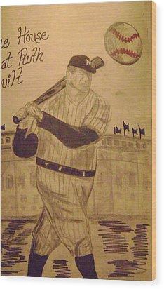 Yankees Wood Print by Paul Rapa