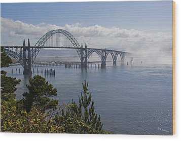 Wood Print featuring the photograph Yaquina Bay Bridge by Mick Anderson