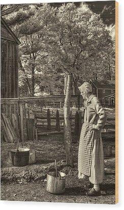 Yarn Dyeing Wood Print by Joann Vitali