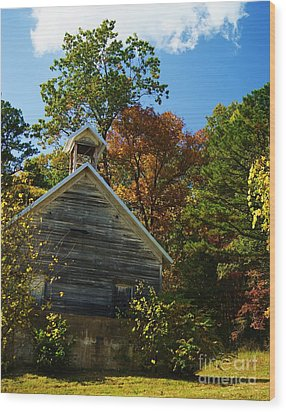 Wood Print featuring the photograph Ye Old Schoolhouse by Julie Clements