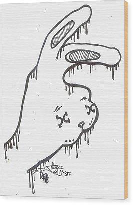 Year Of The Rabbit Wood Print by Robert Wolverton Jr