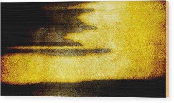 Yellow Wood Print by Brett Pfister