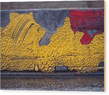 Yellow Brushes Wood Print by Ludmil Dimitrov