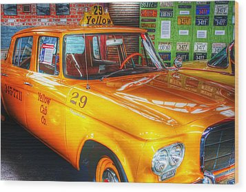 Yellow Cab No.29 Wood Print by Dan Stone