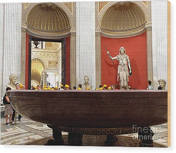 Wood Print featuring the photograph Yellow Caps In Vatican by Tanya  Searcy