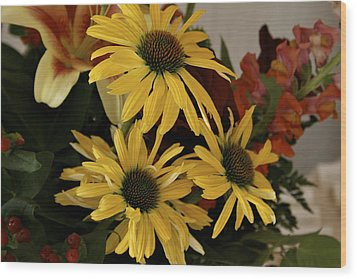 Yellow Daisies Wood Print by Richard Gregurich