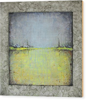 Wood Print featuring the painting Yellow Field by Lolita Bronzini