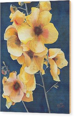 Yellow Flowers Wood Print by Ken Powers