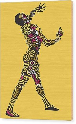 Yellow Haring Wood Print by Kamoni Khem
