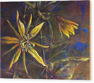 Yellow Passion Wood Print