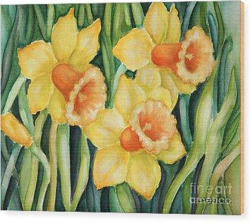 Yellow Pleasure Wood Print by Inese Poga
