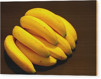 Yellow Ripe Bananas Wood Print by Jose Lopez