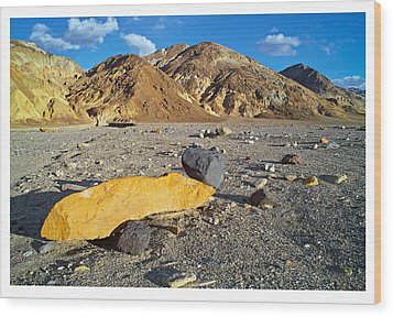 Yellow Rock At Death Valley Wood Print by Laurence Matson