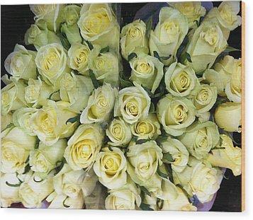 Yellow Roses Wood Print by Anna Villarreal Garbis