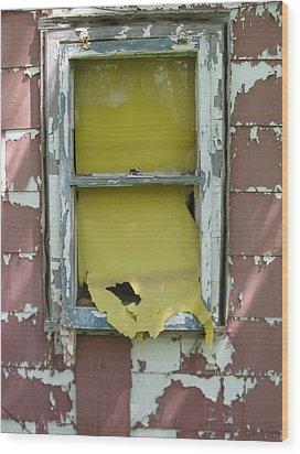 Yellow Shade Wood Print by Todd Sherlock
