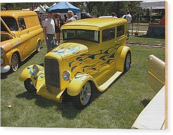 Yellow Speed Wood Print