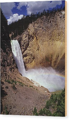 Yellowstone Falls Wood Print