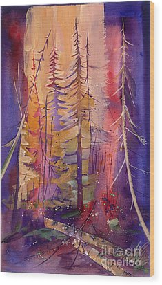 Yellowstone Fire Wood Print