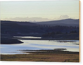 Yellowstone Landscapes Wood Print