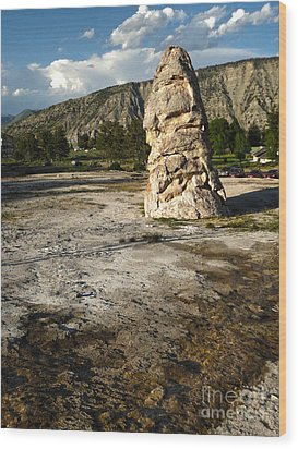 Yellowstone National Park - Mammoth Hot Springs Wood Print by Gregory Dyer
