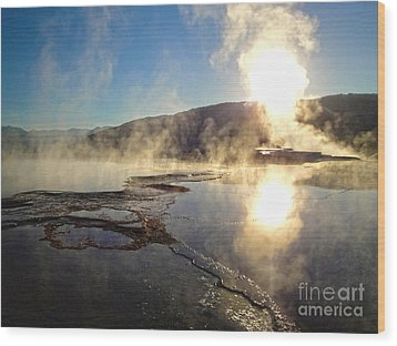 Yellowstone National Park - Minerva Terrace - 02 Wood Print by Gregory Dyer