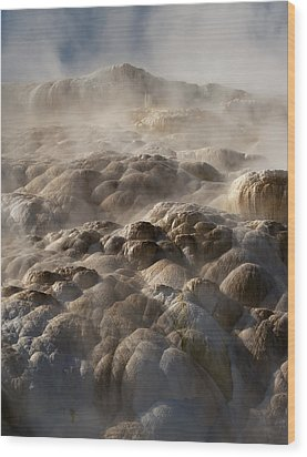 Wood Print featuring the photograph Yellowstone Steam by J L Woody Wooden