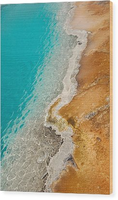 Yellowstone Thermal Pool 2 Wood Print by Peg Toliver