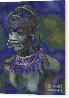 Yemaya  Wood Print by Liz Loz