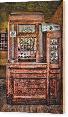 Yesterday's Post Office Wood Print by Susan Candelario