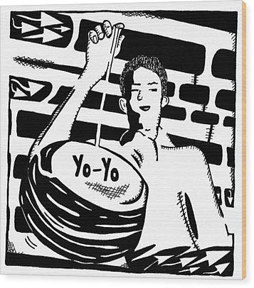 Yo Yo Maze Wood Print by Yonatan Frimer Maze Artist