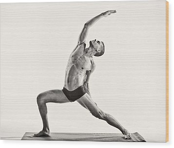 Yoga Wood Print by Angelique Olin