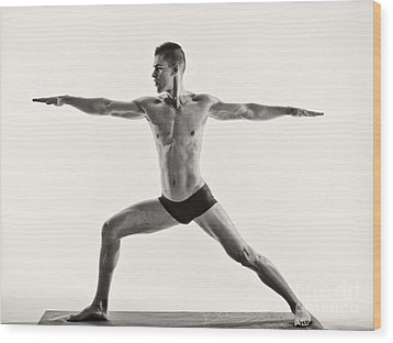 Yoga II Wood Print by Angelique Olin