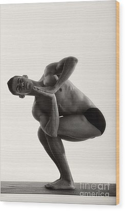 Yoga IIi Wood Print by Angelique Olin