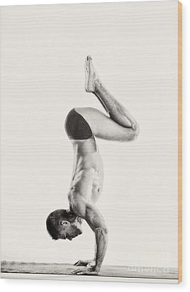 Yoga Vi Wood Print by Angelique Olin