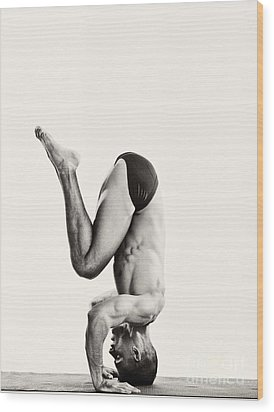 Yoga Vii Wood Print by Angelique Olin