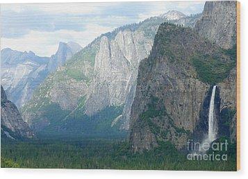 Yosemite Bridalveil Fall Wood Print