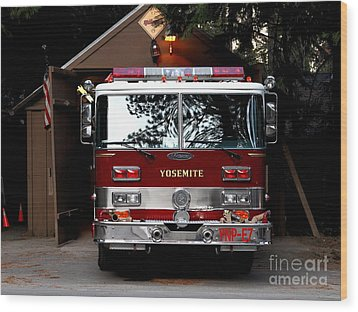 Yosemite California Fire Engine . 7d6142 Wood Print by Wingsdomain Art and Photography