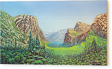 Yosemite Wood Print by David Linton