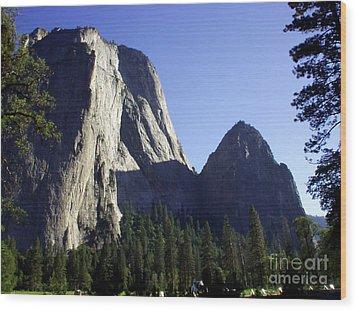 Yosemite Park El Capitan  Wood Print by The Kepharts