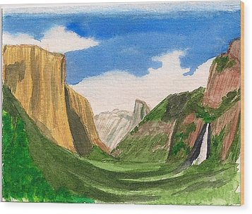 Yosemite Summer Wood Print by Dianne Lanning