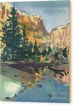 Yosemite Valley In January Wood Print by Donald Maier